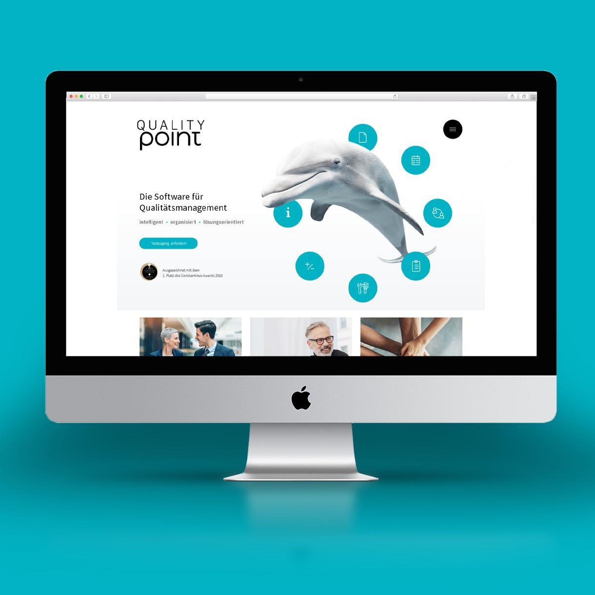 Markenstolz // qualitypoint Brandstory CD Printdesign Website Messedesign